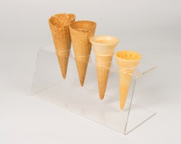 perspex cone stand 4 holes